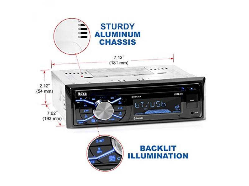 BOSS Audio 508UAB Multimedia Car Stereo – Single Din