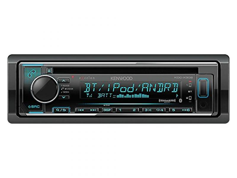 Kenwood eXcelon KDC-X302 CD Receiver w/Bluetooth Front USB SiriusXM Ready Spotify, Pandora and iHeart Link