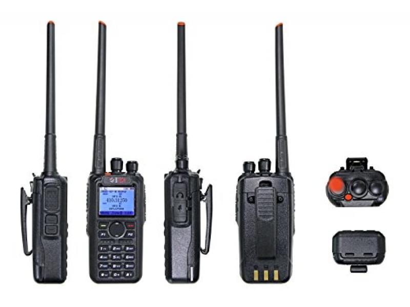 BTECH DMR-6X2 (DMR and Analog) 7-Watt Dual Band Two-Way Radio (136-174MHz VHF & 400-480MHz UHF)