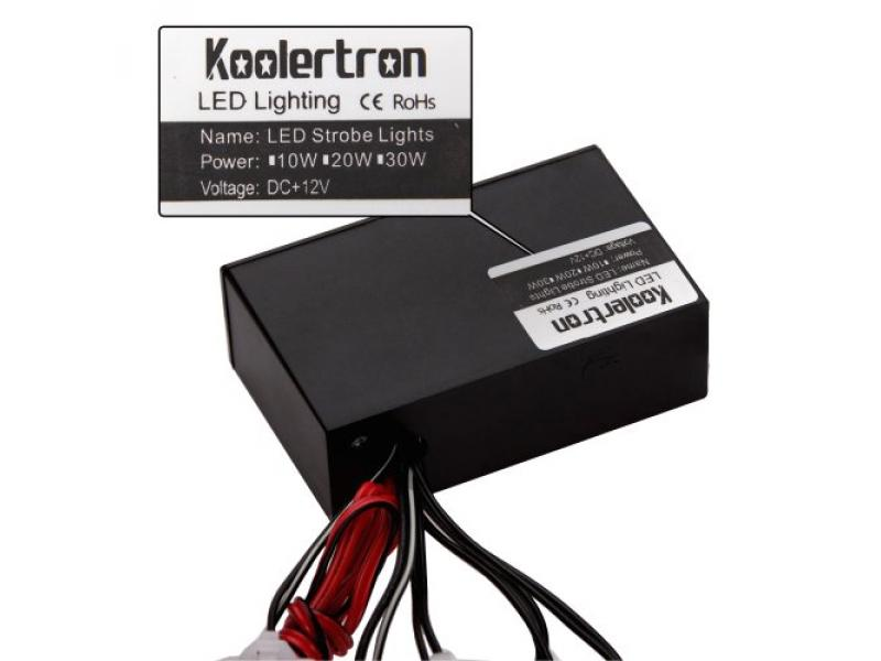 Koolertron 18 LED Emergency Vehicle Strobe Lights for Front Grille/Deck - Red