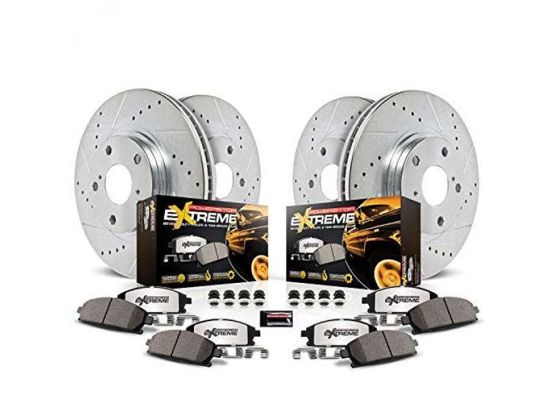 Power Stop K2010-36 Front and Rear Z36 Truck & Tow Brake Kit