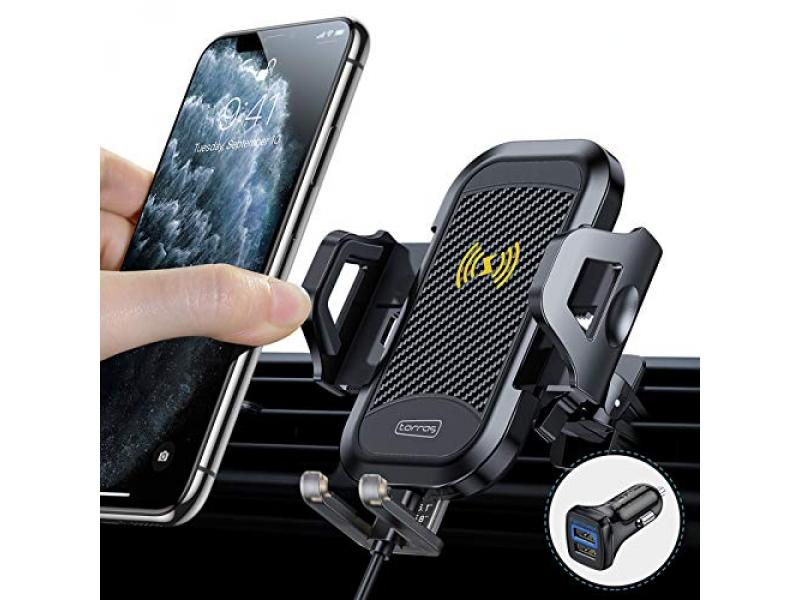 TOAS Car Mount Wireless Charger [with QC 3.0 CAR ChargerRR]
