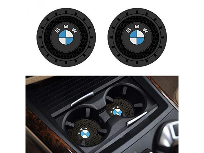 SOONDAR 2Pcs Car Interior Anti Slip Cup Mat for BMW