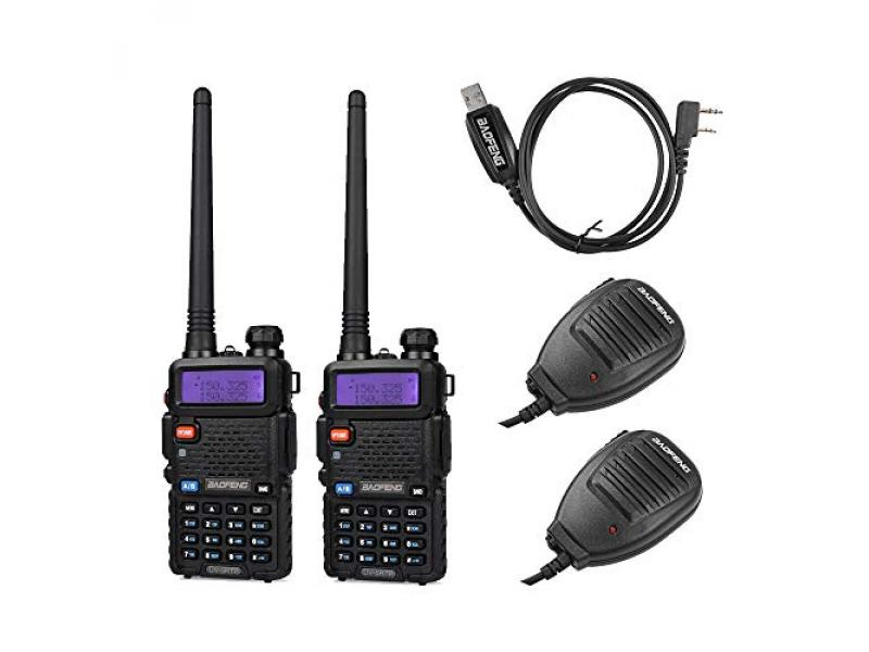 BaoFeng 2 Pack 8W Radio + 1 Cable + 2 speaker