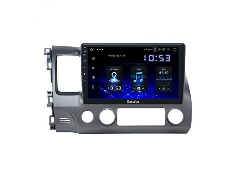 Dasaita 10 inch Screen Android 10.0 Car Stereo for Honda Civic 2006 to 2011