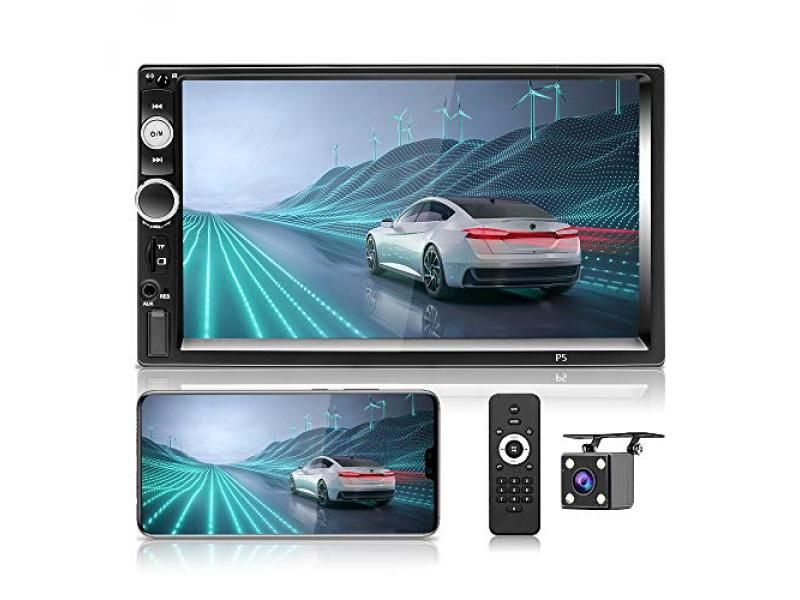 Hikity Car Stereo Double Din 7 Inch Touchscreen Radio Receiver Bluetooth System