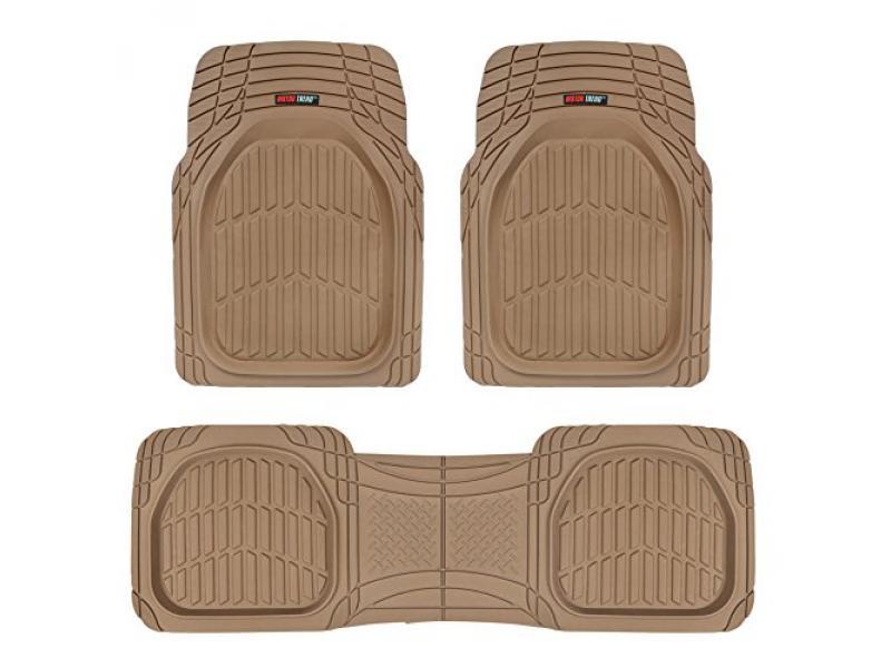 Motor Trend 923-BG Beige FlexTough Heavy Duty Rubber Floor Mats