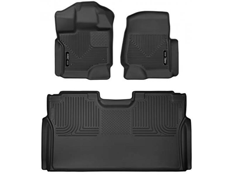 Husky Liners 94041 Fits 2015-20 Ford F-150 SuperCrew Weatherbeater Front & 2nd Seat Floor Mats (Black)