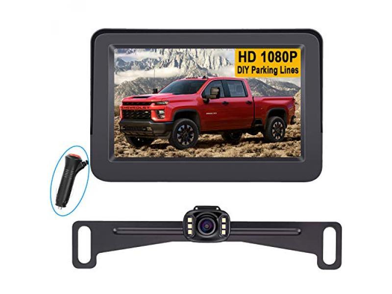 LeeKooLuu LK3 HD 1080P Backup Camera with Monitor Kit