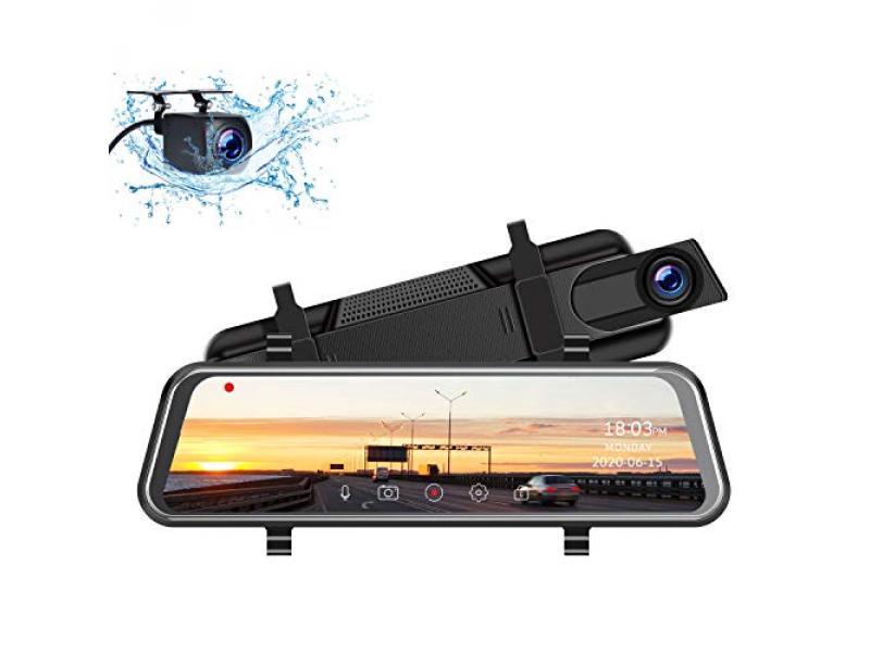 TOGUARD 2.5K Mirror Dash Cam