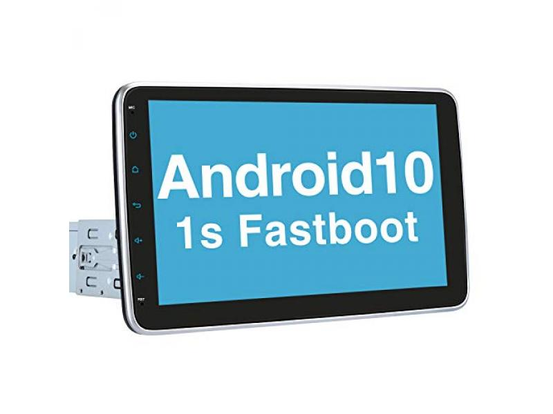 Single Din Android 10 Car Stereo with Fastboot