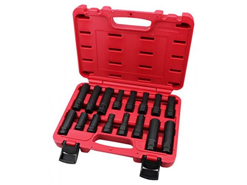 Kauplus 16PCS Wheel Locking Lug Master Key Set