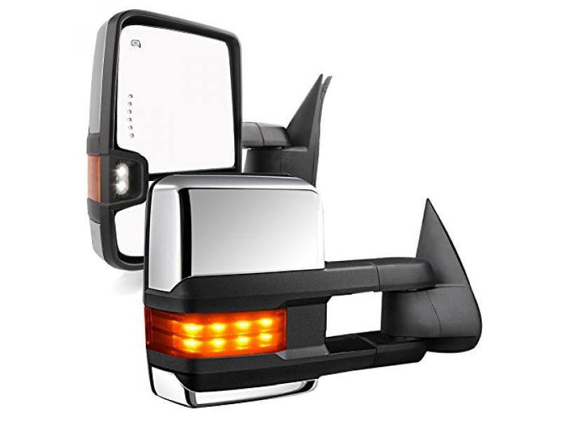 YITAMOTOR Tow Mirrors Power Heated Arrow Signals Lights