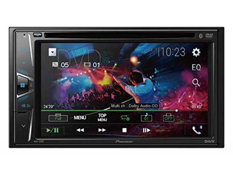 Pioneer AVH-120BT 6.2 Inch Double Din DVD/MP3/CD Player with Touchscreen Bluetooth