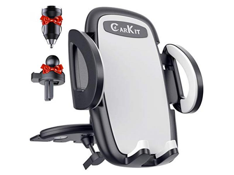 CarKit 2-in-1 Ultimate Hands-Free Car Phone Holder Mount [with Bonus Car Charger]