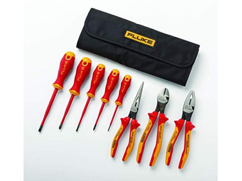 Fluke Insulated 5 Screwdriver + 3 Plier Tools Starter Kit