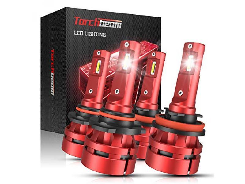 Torchbeam T2 9005/HB3 H11/H8 LED Headlight Bulb Kit