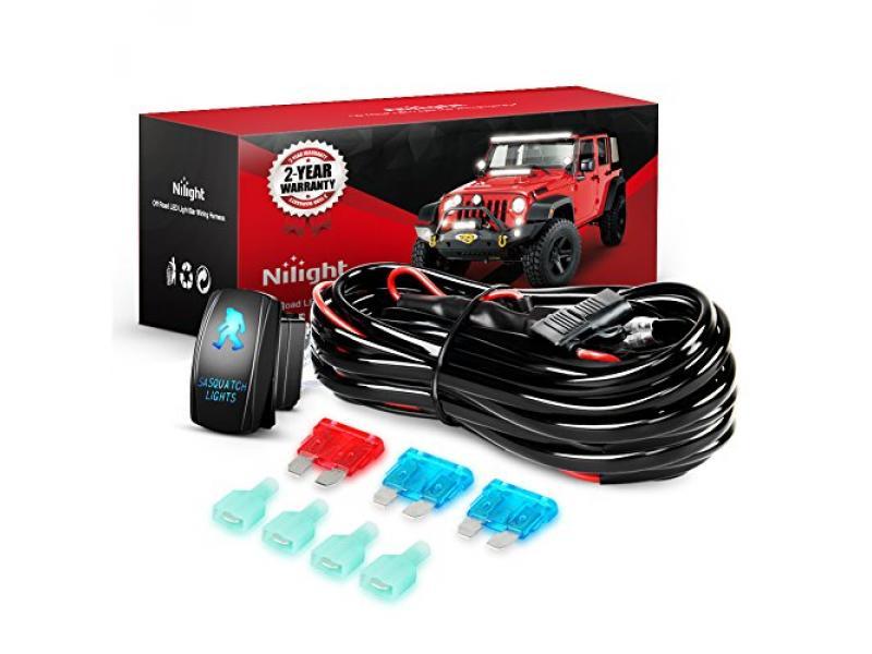 Nilight - 10013W NI -WA 07 LED Light Bar Wiring Harness Kit