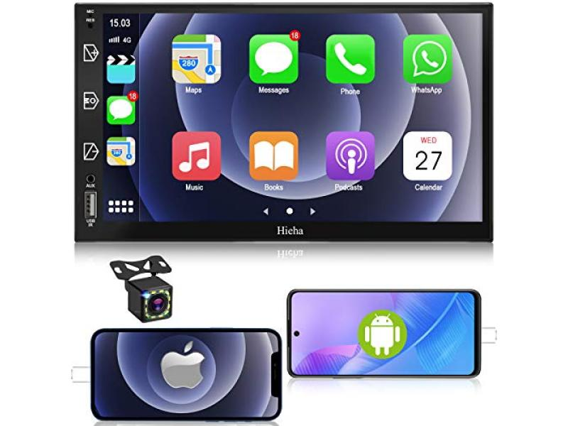 Car Stereo Double Din Car Multimedia Player-Apple Carplay and Android Auto