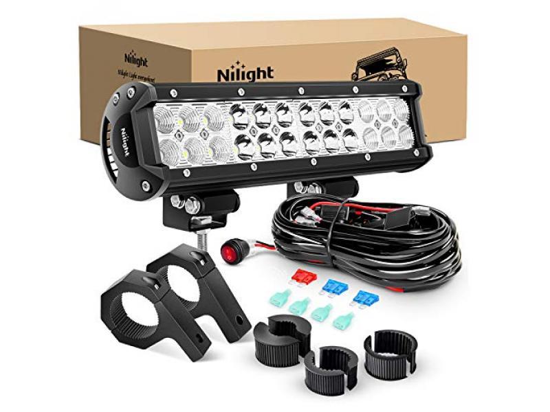 Nilight - ZH062 12 Inch 72W Spot Flood Combo LED Light Bars