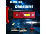Alla Lighting Mini FL-BH 12500 Lumens P20D Base HB3 9005 LED Bulbs Photo 5