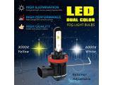 Alla Lighting 5200LM H10 9145 Switchback LED Fog Lights Bulbs Photo 3