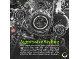 7 CREE LED Harley Headlight + 4.5 Passing Light + Mounting Bracket [Black-Finish] [HALO DRL] [Plug and Play] Head Light Photo 1