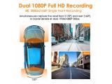 Dual 1080P Front and Rear Car Camera with Built in GPS Speed Photo 1