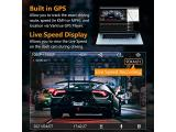 Dual 1080P Front and Rear Car Camera with Built in GPS Speed Photo 2