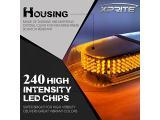 Xprite Amber White 240 LED Warning Strobe Beacon Light Photo 1