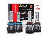 ALLA Lighting S-HCR H11 Low Beam HB3/9005 High Beam LED Bulbs Combo Kits