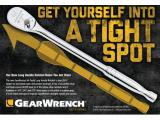 GEARWRENCH 1/4 Drive 84 Tooth Long Handle Teardrop Ratchet Photo 1