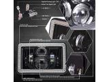 SEUYA 4x6 LED Headlights High Low Beam with White Halo Photo 5