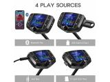 Nulaxy Bluetooth FM Transmitter, 1.8 Inch Display Photo 2