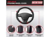 Motor Trend GripDrive Carbon Fiber and Leather Steering Wheel Cover Photo 1