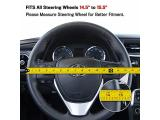 Motor Trend GripDrive Carbon Fiber and Leather Steering Wheel Cover Photo 5