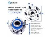 ECCPP 513121 Wheel Bearing Hub Front Wheel Hub and Bearing Assembly Photo 4