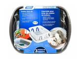 Camco 43518 Black Sink Kit with Dish Drainer, Dish Pan and Sink Mat