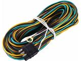 Miady 25ft Trailer Wiring Harness with 4 Flat Connector