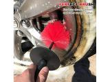 TAKAVU Wheel Brush Big - 18 inches Long 4 inches Wide Soft Bristle - Easy Reach Wheel Rim Detailing Brush Photo 3