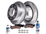Detroit Axle - Rear Drilled & Slotted Rotor + Brake Pads Replacement