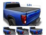 Tyger Auto T1 Soft Roll Up Truck Bed Tonneau Cover Compatible with 2019-2021 Chevy Silverado/GMC Sierra