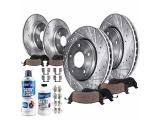 Detroit Axle - Front and Rear Drilled Brake Rotors and Pads Replacement
