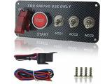 Welugnal DC 12V Ignition Switch Panel