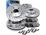 For 2012-2020 Ford F-150 2WD/4WD R1 Concepts eLine Front Rear Drill/Slot Brake Rotors Kit
