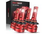 Torchbeam T2 9005/HB3 9006/HB4 LED Headlight Bulb Kit 16000 Lumens, 6500K Cool White