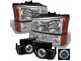 For 2003-2006 Silverado Avalanche Pickup Truck OE Replacement Chrome Headlights
