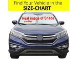Windshield Sun Shade Exact Fit Size Chart for Cars Suv Trucks Minivans