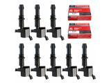 MAS Set of 8 Ignition Coils DG511 GD511 FD508 Motorcraft Spark Plugs SP546 PZH14F