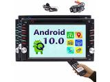 Double din Android 10.0 Car Stereo Head Unit with Touch Screen 2 din In Dash Car DVD CD Player